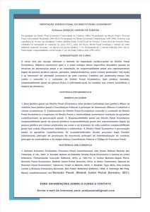 """CURSO """"IMPUTAÇÃO JURÍDICO-PENAL NO DIREITO PENAL ECONÔMICO"""""""